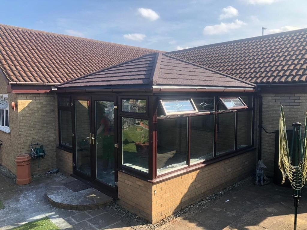 Alfie and Tracey tiled conservatory review