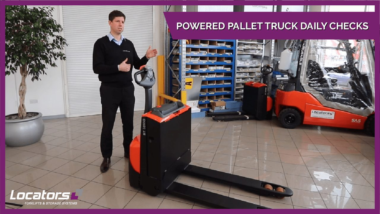 staff showing daily forklift checks video guide thumbnail